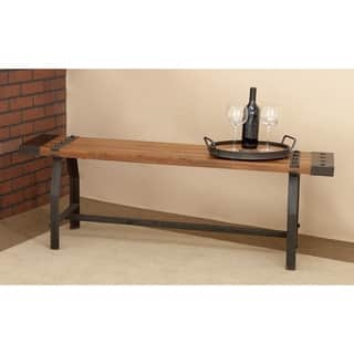 Rustic Industrial-inspired Wood Bench|https://ak1.ostkcdn.com/images/products/10396551/P17499290.jpg?impolicy=medium
