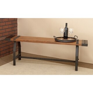 Rustic Industrial-inspired Wood Bench