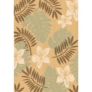 Power-loomed Florida Solid Beige Accent Rug (2' x 3')