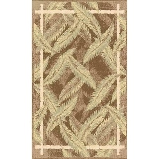 Power-loomed Florida Solid Green Accent Rug (2' x 3')