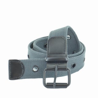 Faddism Unisex One Row Grommets Canvas Web Belt