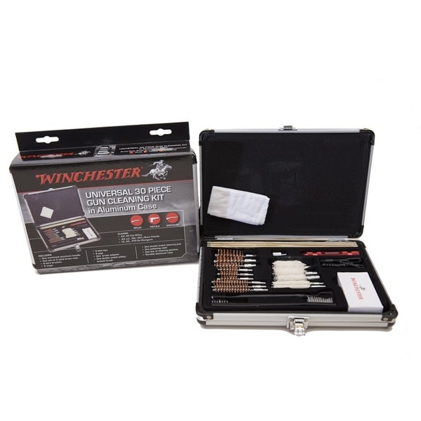 Winchester 30 Piece Universal Gun Cleaning Kit in Aluminum Case