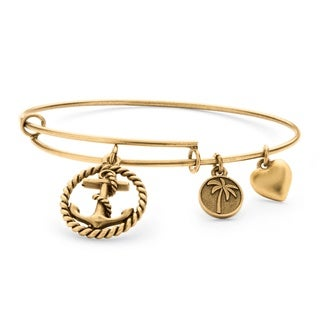 PalmBeach Goldtone Anchor Tailored Charm Bracelet