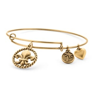 PalmBeach Goldtone Fleur-de-Lis Bracelet Tailored Charm Bracelet