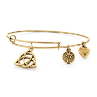 PalmBeach Goldtone Celtic Knot Tailored Charm Bracelet