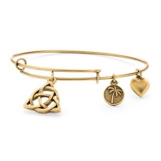 PalmBeach Goldtone Celtic Knot Tailored Charm Bracelet