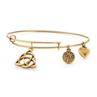 Goldtone Celtic Knot Tailored Charm Bracelet