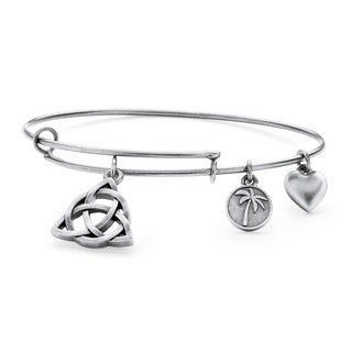 Silvertone Celtic Knot Tailored Charm Bracelet