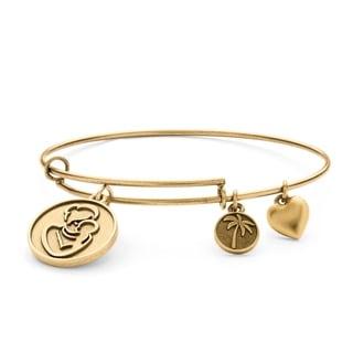 PalmBeach Goldtone Mother Charm Tailored Bangle Bracelet