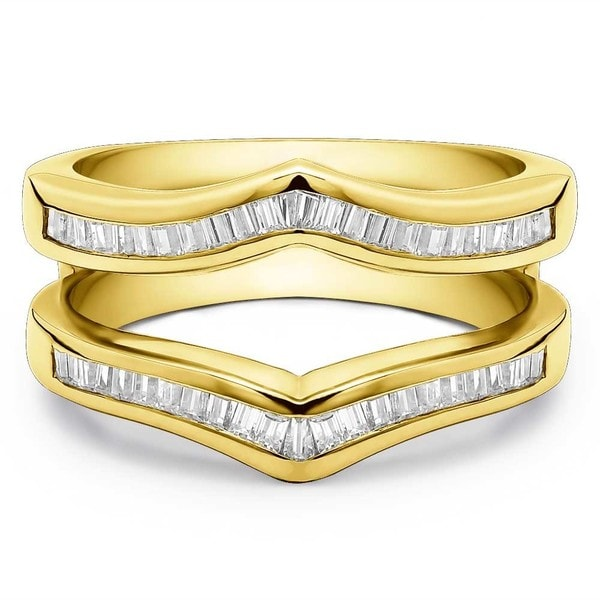 TwoBirch 14k Gold 2/5ct TDW Diamond Classic Contour-style Ring Guard Enhancer