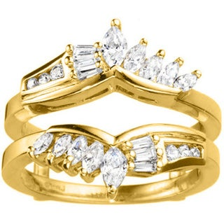 14k Gold 1 7/8ct TDW Diamond Chevron Anniversary-style Ring Enhancer (G-H, SI2-I1)