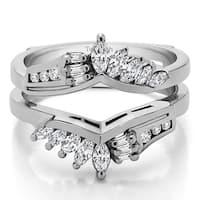 TwoBirch 14k Gold 1 7/8ct TDW Diamond Chevron Anniversary-style Ring Enhancer