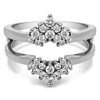 TwoBirch Sterling Silver 1/4ct TDW Diamond Double-row Prong-set Ring Guard|https://ak1.ostkcdn.com/images/products/10396868/P17499572.jpg?impolicy=medium