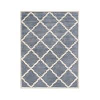 Alliyah Handmade Bluish Grey New Zealand Wool Rug - 10'x12'