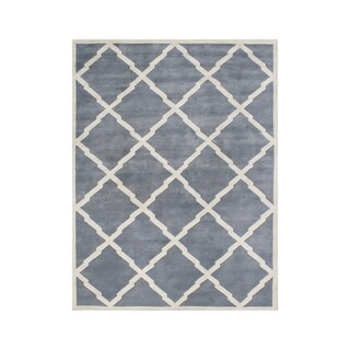Alliyah Handmade Bluish Grey New Zealand Wool Rug - 10'x12'