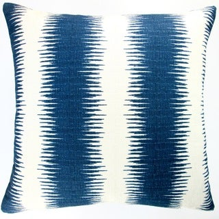 Artisan Pillows Indoor 20-inch Navy Blue Striped Modern Geometric Accent Throw Pillow Cover