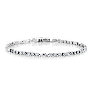 Sterling Silverplated Cubic Zirconia Tennis Bracelet|https://ak1.ostkcdn.com/images/products/10396932/P17499609.jpg?impolicy=medium