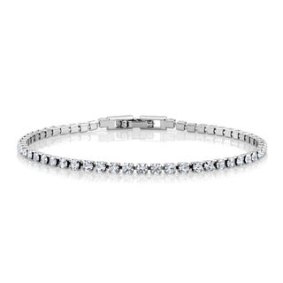 Sterling Silverplated Cubic Zirconia Tennis Bracelet