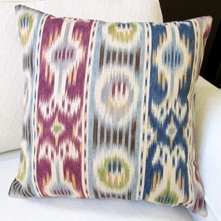 Artisan Pillows Indoor 20-inch Ikat Striped Abstract Stripe Modern Geometric Accent Throw Pillow Cover
