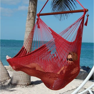 large caribbean hammock chair  sale deluxe extra large soft hammock swing chair   free shipping today      rh   overstock