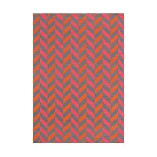 Alliyah Handmade Rust Flat Weave Wool Rug (5' x 8')