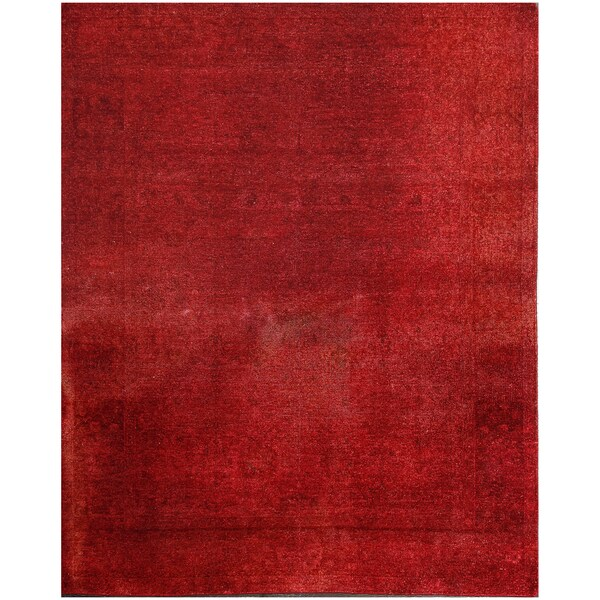 Overdyed Red Rug - 8 x 10