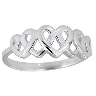 Decadence Sterling Silver 5 Interlocking Heart RIng|https://ak1.ostkcdn.com/images/products/10397048/P17499668.jpg?impolicy=medium