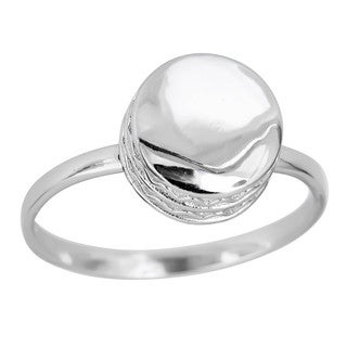 Decadence Sterling Silver Bold Round Shape Ring