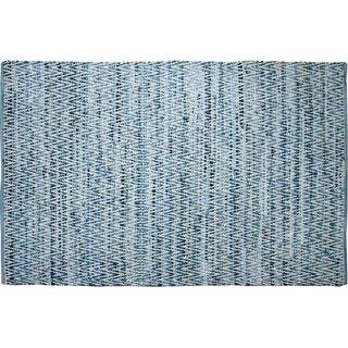 Denim Chevron Area Rug