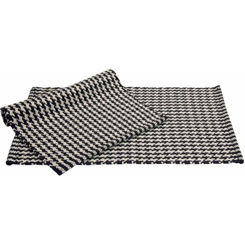 "Chesapeake Portland Houndstooth 2pc. Black Accent Rug Set (21""x34"") - 21""x34"""
