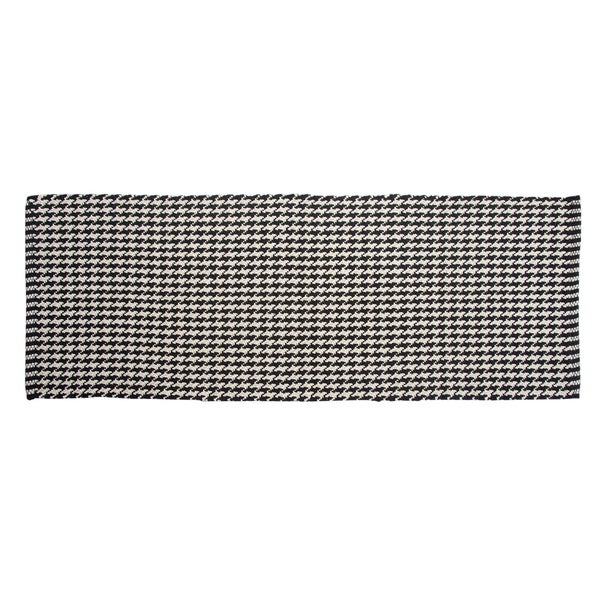 "Chesapeake Portland Houndstooth Black Accent Rug Runner (22""x60"") - 22""x60"""
