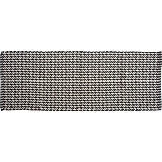 Portland Black Houndstooth Runner - 1' 10 x 5'