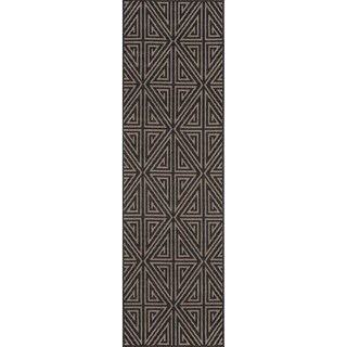 "Momeni Baja Diamonds Charcoal Indoor/Outdoor Area Runner - 2'3"" x 7'6"""