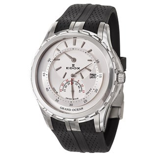 Edox Men's 'Grand Ocean' Stainless Steel Swiss Mechanical Automatic Watch