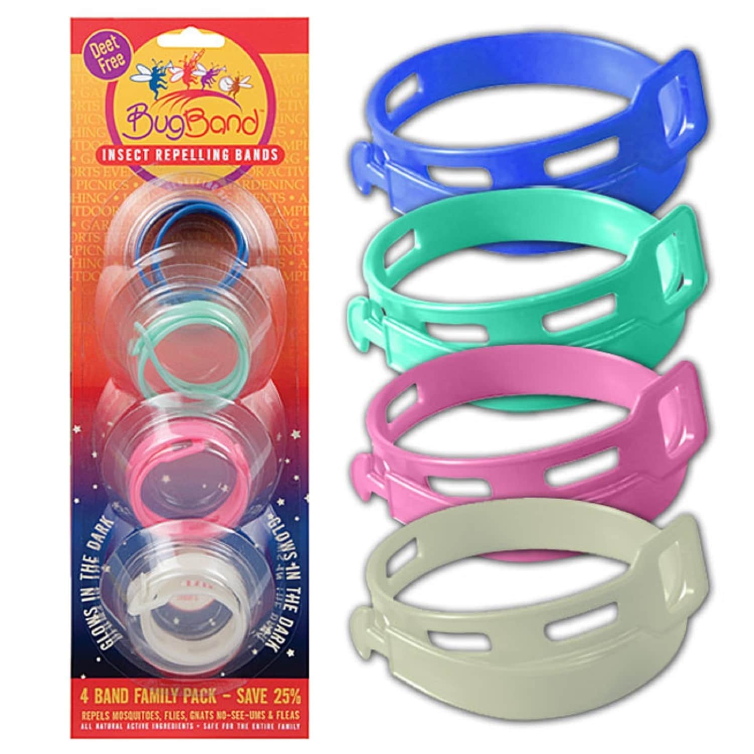 Coleman Bug Band BugBand Repellent Wristband Family Pak 4...