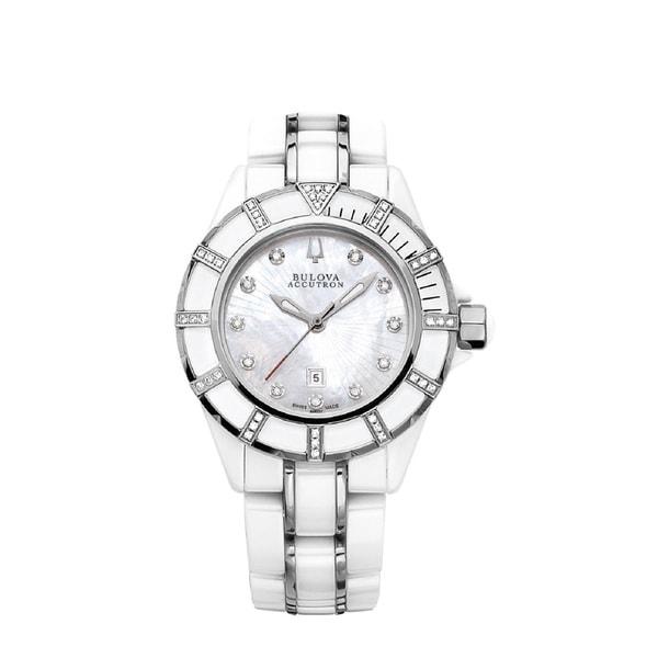 Bulova Women's 'Mirador' Stainless Steel and Ceramic Swiss Quartz Watch