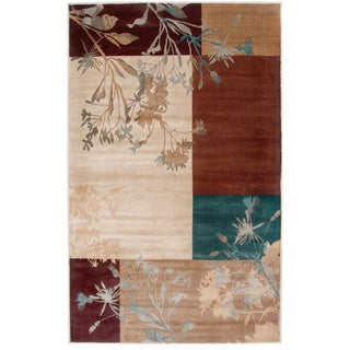 """Rizzy Home Bellevue Collection Power-loomed Accent Rug (6'7 x 9'6) - 6'7"""" x 9'6"""""""