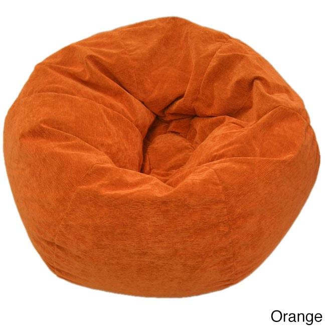 Gold Medal Adult Sueded Corduroy Bean Bag Chair (Orange) ...