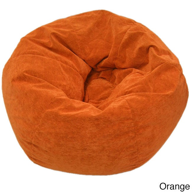 Gold Medal Adult Sueded Corduroy Bean Bag Chair (Option: Orange)