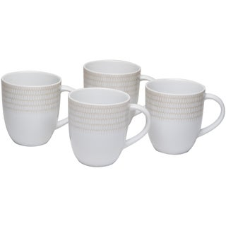 White Rice 12-ounce Mug (Set of 4)