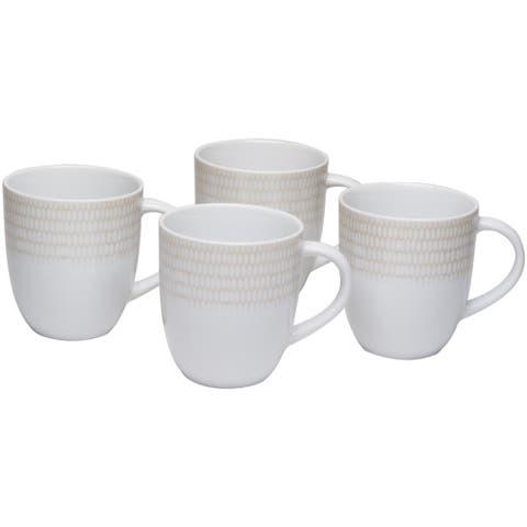 White Rice Coffee Mug 12oz (Set of 4)
