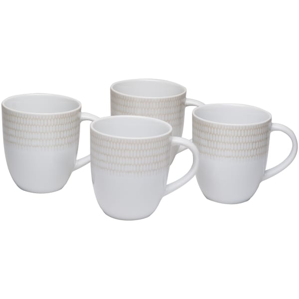 White Rice Coffee Mug 12oz (Set of 4). Opens flyout.