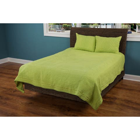 Rizzy Home Moroccan Fling Lime Color Cotton Quilt