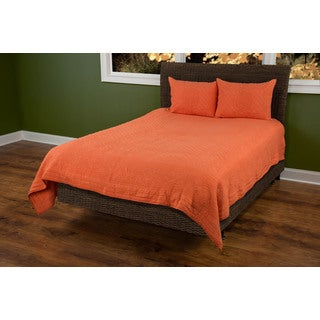 Rizzy Home Moroccan Fling Orange Cotton Quilt