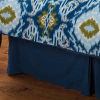Rizzy Home Seaglass Blue Cotton Bedskirt