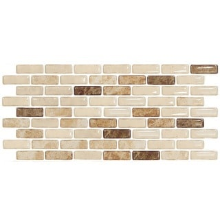 BeausTile Arena II 4-piece Decorative Adhesive Faux Tile Sheets (5.4in x 14.8in)