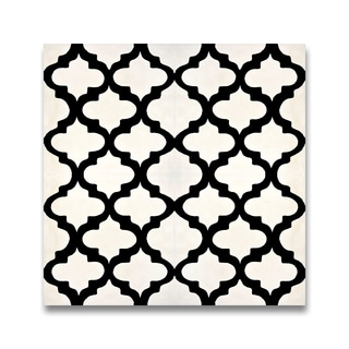 Lantern Black and White Handmade Cement/ Granite 8 x 8-inch Floor and Wall Tile (Morocco) (Pack of 12)