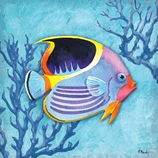 Portfolio Canvas Decor Paul Brent 'Azure Tropical Fish I' Framed Canvas Wall Art (Set of 2)
