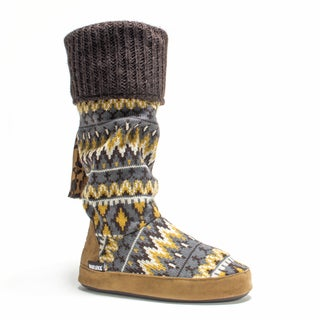 Muk Luks Women's Brown Winona Slipper