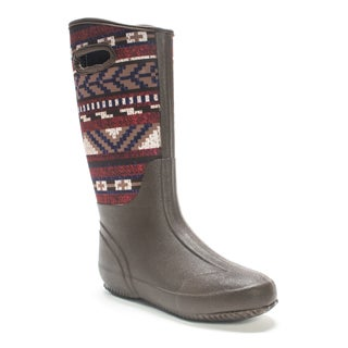 Muk Luks Women's Dark Brown Karen Rainboot